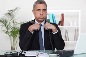 Overwhelmed executive